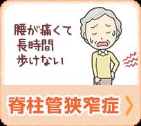 脊柱管狭窄症(腰が痛くて長時間歩けない)